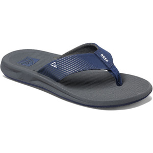 2020 Reef Mens Phantom II Flip Flops / Sandals RF0A3YMH - Grey / Navy